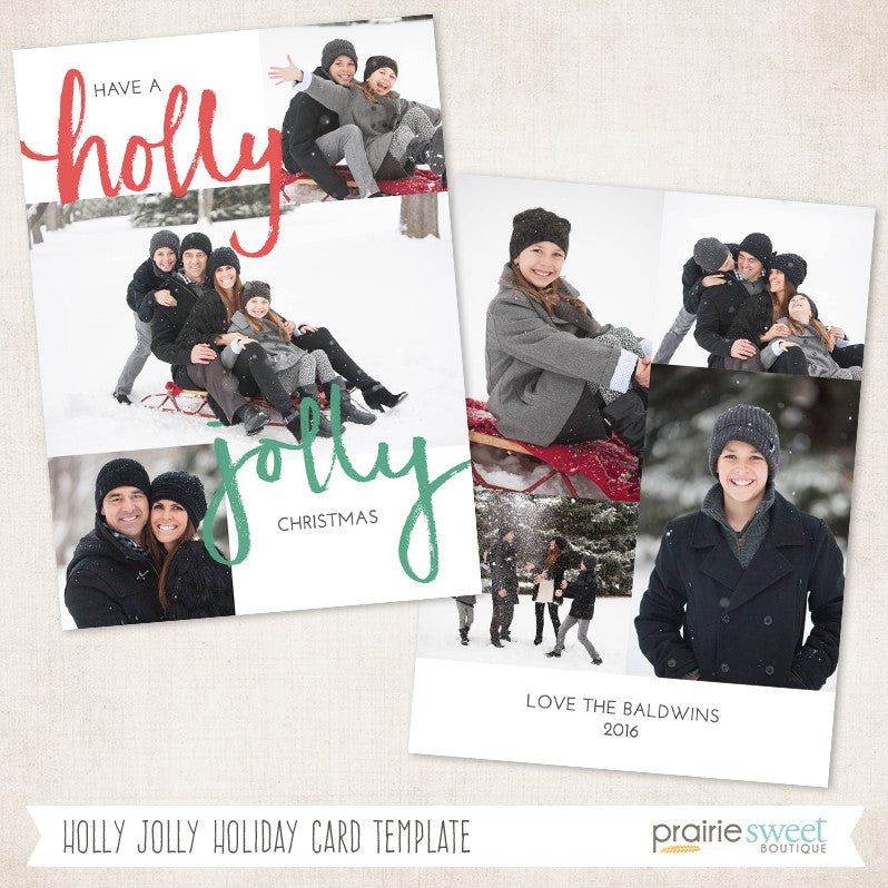 prairie sweet boutique holly jolly christmas photoshop template
