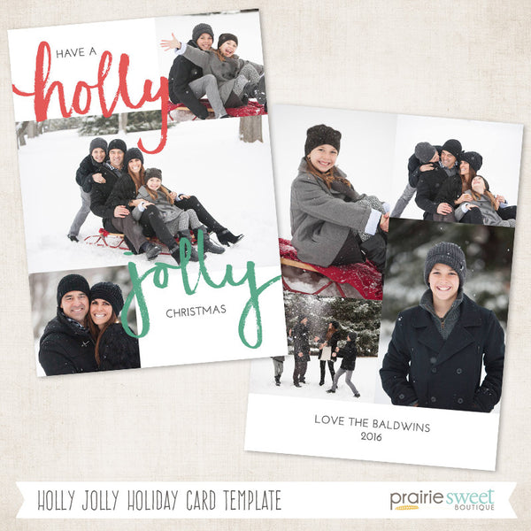 Holly Jolly | Wonderful Life Holiday Card Template