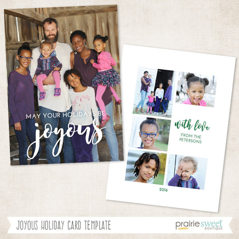 Joyous | Very Merry Holiday Card Template