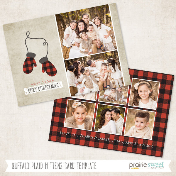 Mittens | Home For Christmas Holiday Card Template