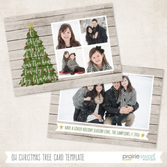 Tree | Home For Christmas Holiday Card Template