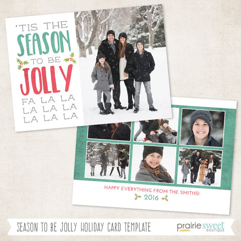 Season to be Jolly | FA LA LA Holiday Card Template