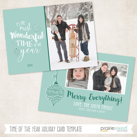 Time of Year | Wonderful Life Holiday Card Template