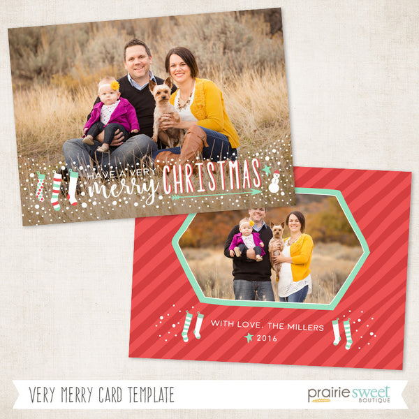 Very Merry | Very Merry Holiday Card Template