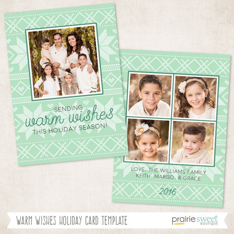 Warm Wishes | FA LA LA Holiday Card Template