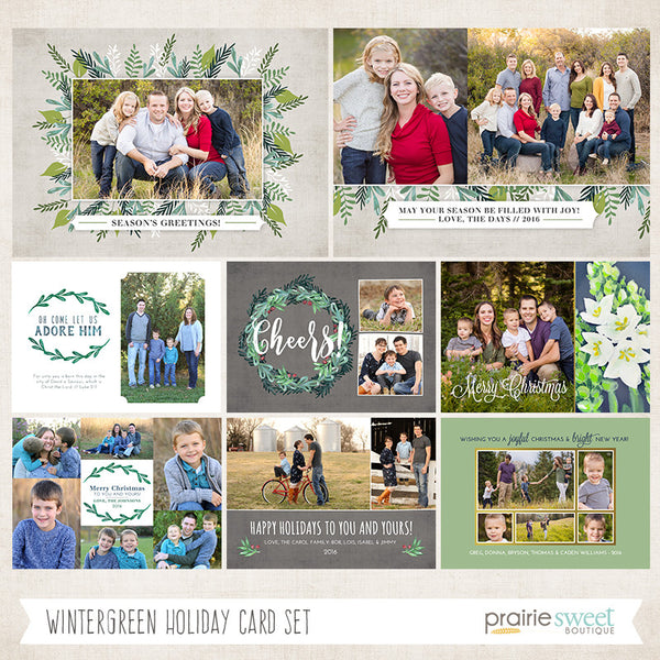 2016 ENTIRE Holiday Card Template Bundle
