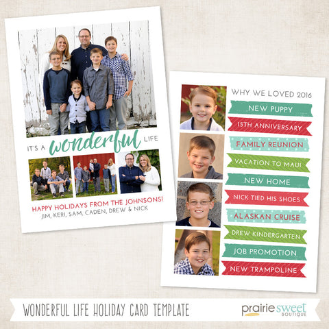 Wonderful Life | Wonderful Life Holiday Card Template
