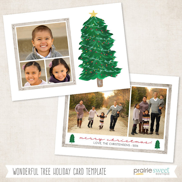 Tall Tree | All is Calm Holiday Card Template