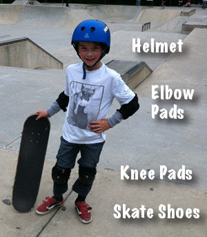 Safe Skater with Equipment