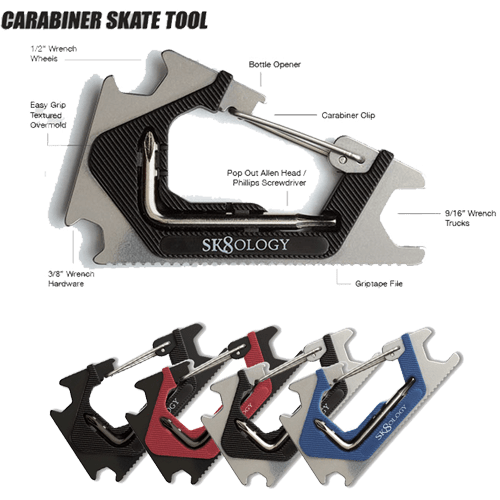 SK8OLOGY Carabiner Skate Tool Specifications