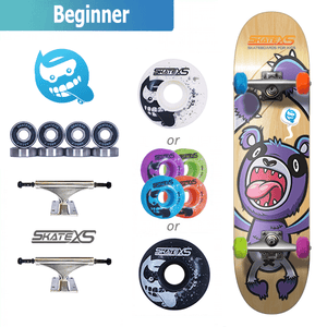 SkateXS Panda Beginner Skateboard for Kids