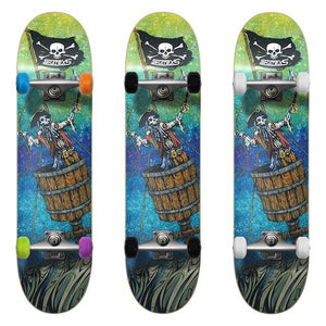 SkateXS Pirate Beginner Complete Skateboard for Kids