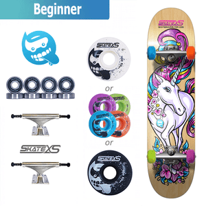 SkateXS Unicorn Beginner Skateboard for Kids