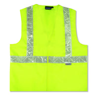 S17P ANSI Class 2 Hi-Viz Vest with Pockets, Lime 14358