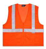 S15Z ANSI Class 2 Zipper Mesh Vest Orange - 14633, 14634, 14635, 14636, 14637, 14638, 14639, 14640