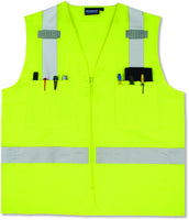 S414 ANSI Class 2 Hi-Viz Vest Surveyor's Lime 61200