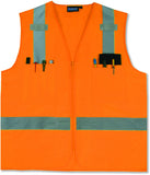 S414 ANSI Class 2 Hi-Viz Vest Surveyor's Orange 61208