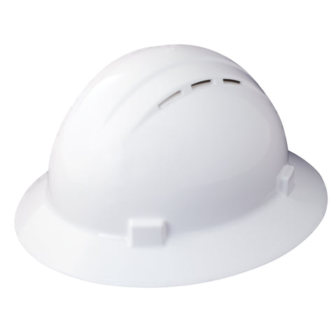 ERB Hard Hat Americana Vented Full Brim Ratchet White 19431