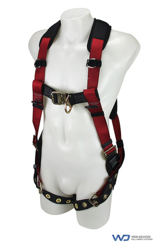NEORIG Full Body harness, Quick Lock Chest and Legs, Padded Back and Legs, Chest D-ring