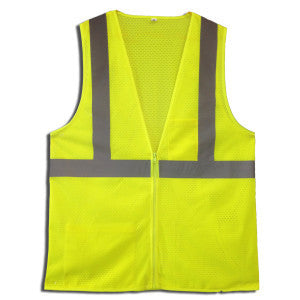 NEORIG Class 2 Safety Vest Lime, Mesh, Zipper-LOGO INCLUDED