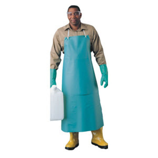 "Ansell 33"" X 49"" Green CPP 18 Mil PVC Heavy Duty Apron With Stomach Patch (12 per box)"