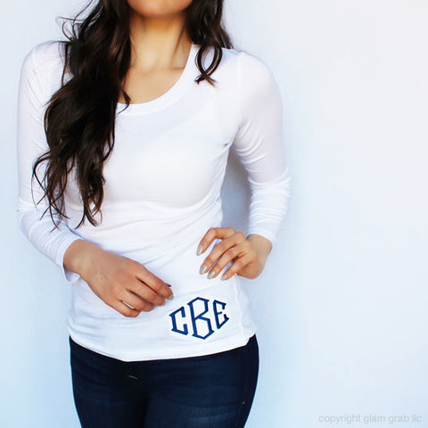 Cutest Monogram Shirt Ever - Hip