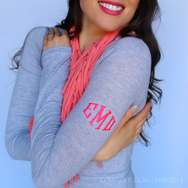 Cutest Monogram Shirt Ever - Shoulder