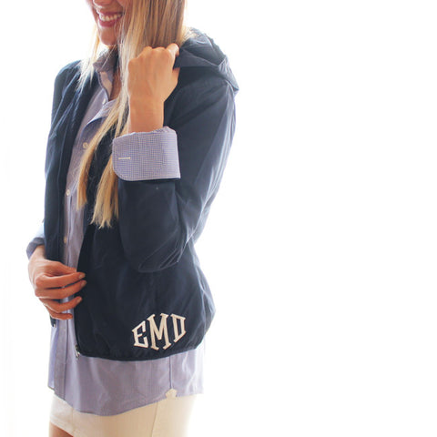 Cutest Monogram Windbreaker Hoodie Ever