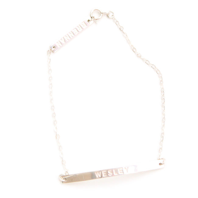 Double Bar Name Bracelet