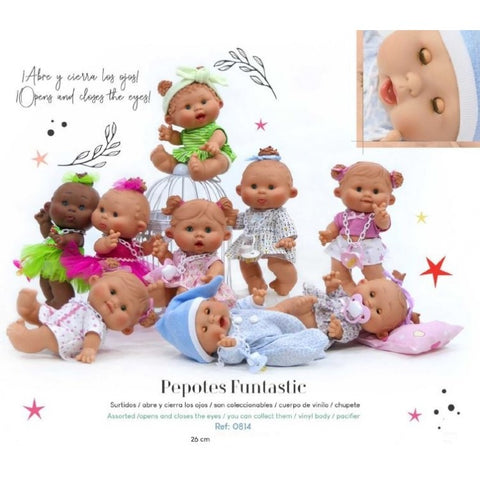 26cm Open & Close Eyes Original Pepotes Dolls