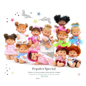 26cm Open & Close Eyes Special Edition Pepotes Dolls