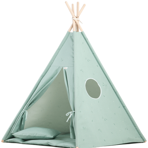 Patterned Mint Teepee Set