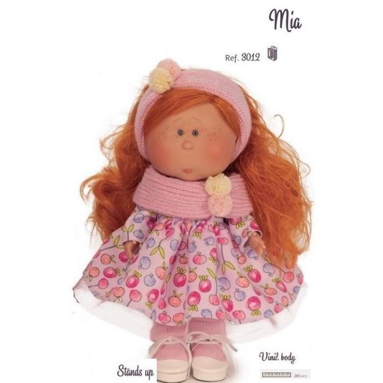 Mia Curly Red Standing Doll
