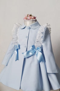 Baby Blue Lace Coat