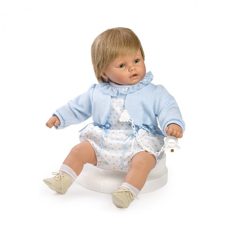 62cm Boy Spotty Romper Crying Doll - Sienna's Spanish Baby