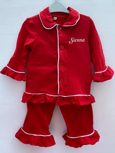 Girls Ruffle Pyjamas (4 Colours) - Sienna's Spanish Baby