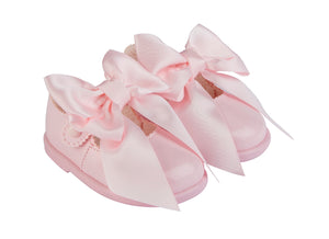 Pink Bow Shoes (Hard Sole) - Sienna's Spanish Baby
