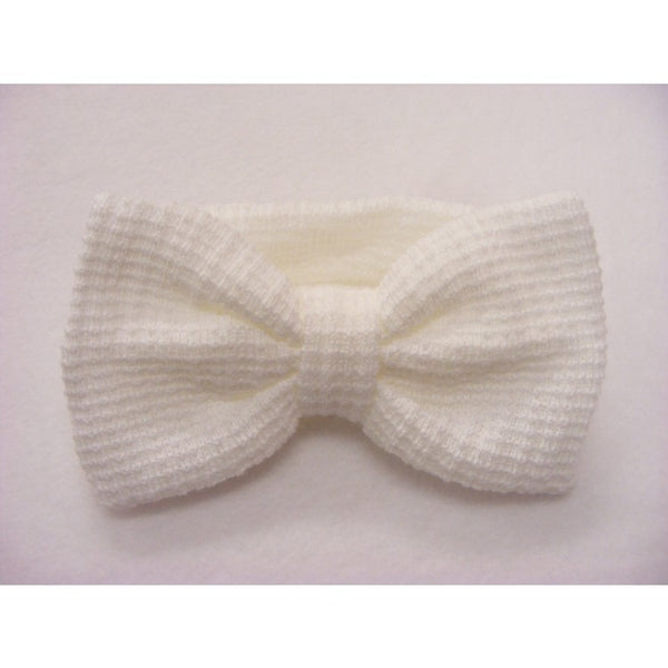 Large Bow Waffle Knit Headbands - Sienna's Spanish Baby