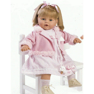 62cm Crying Pigtails Doll - Sienna's Spanish Baby