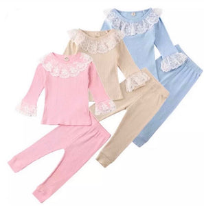 Frilly Lace Pyjamas (3 Colours) - Sienna's Spanish Baby