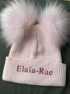 Personalised Double Pom Hats