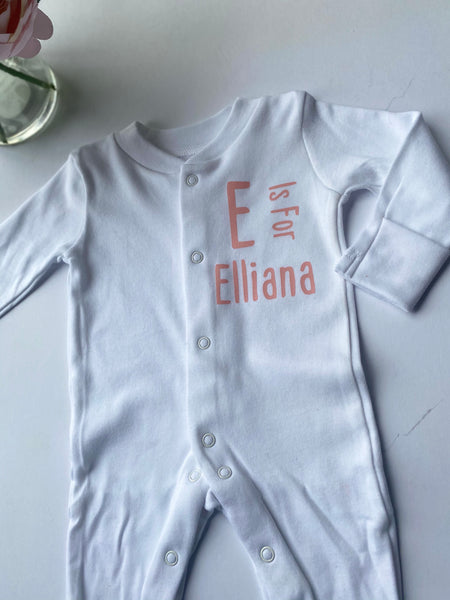 Initial & Name Sleepsuit