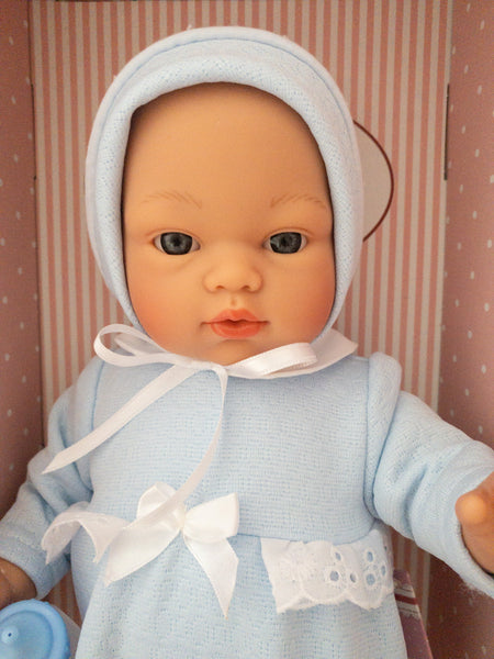 36cm Blue Sleepy Baby Doll