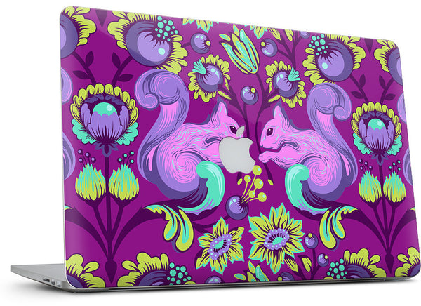 Squirrel Foxglove MacBook Skin