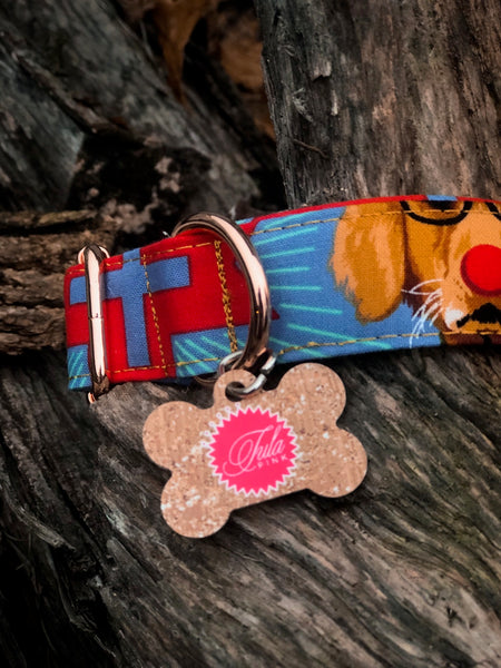 Holiday Homies Tula Pink Dog Collar - Buck, Buck, Goose