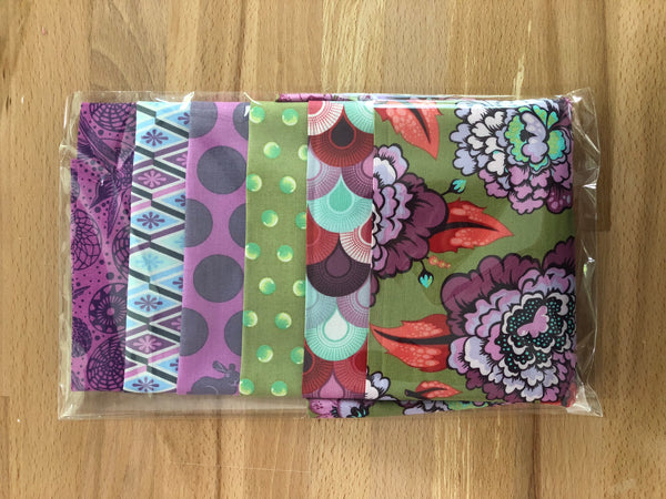 OMG Fat Quarter Bundle - Green / Purple