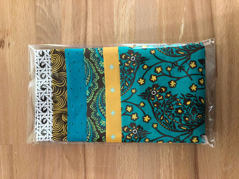 OMG Fat Quarter Bundle - Teal / Yellow