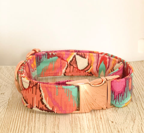 Tula Pink Dog Collar - Eden Moth