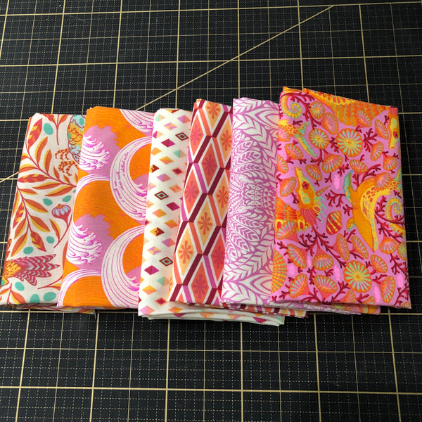 Fat Quarter Color Bundle - Orange / Pink