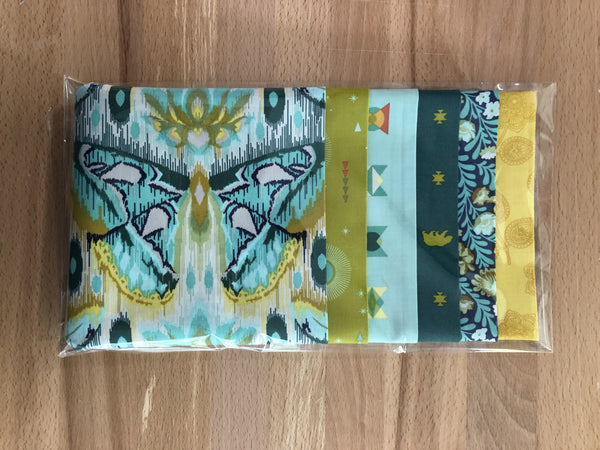 OMG Fat Quarter Bundle - Aqua / Yellow